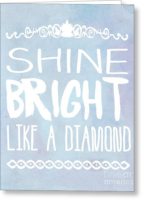 Shine Bright Blue Greeting Card by Pati Photography