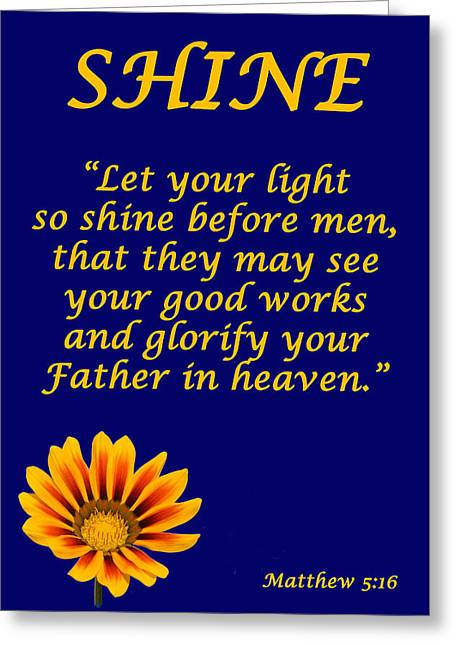 Shine Christian Poster Greeting Card