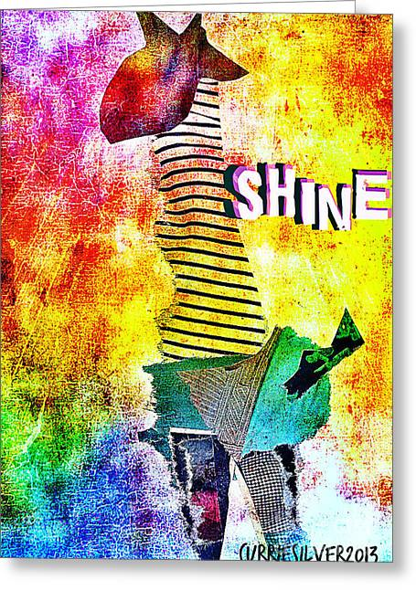 Shine Greeting Card by Currie Silver