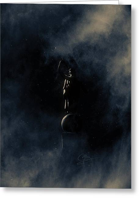 Greeting Card featuring the photograph Shine Forth In Darkness by Greg Collins