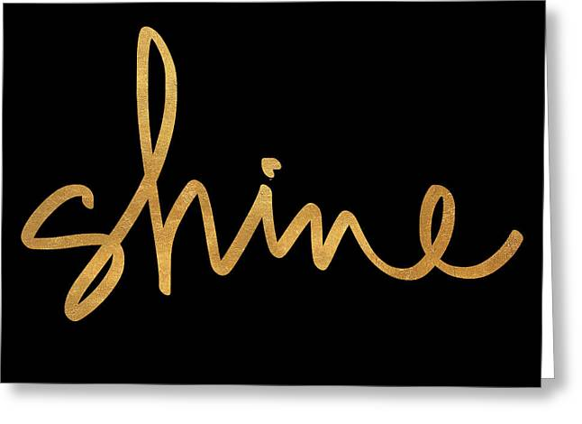 Shine On Black Greeting Card