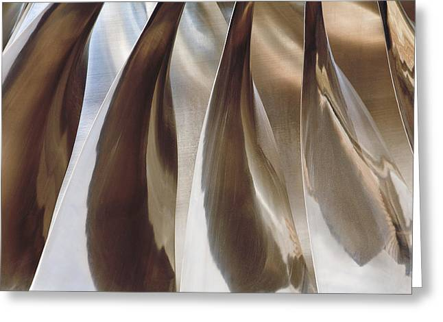 Shine On Metal II - Bronze Tones Greeting Card by Natalie Kinnear