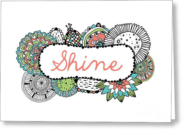 Shine Part 2 Greeting Card by Susan Claire