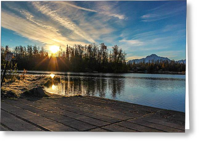 Shining Sunrise Greeting Card by Tyler Olson