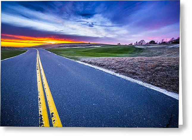 Shinnecock Hills Sunset Greeting Card by Ryan Moore