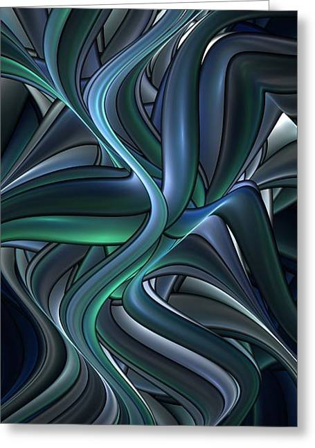 Shiny Pipes Greeting Card by Jaclyn Hughes Fine Art
