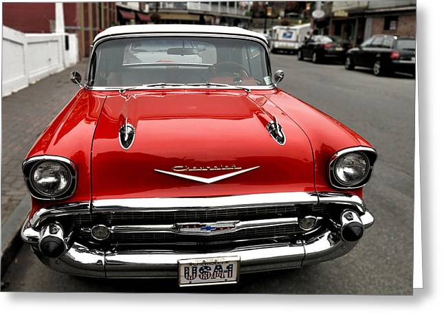 Shiny Red Chevrolet Greeting Card