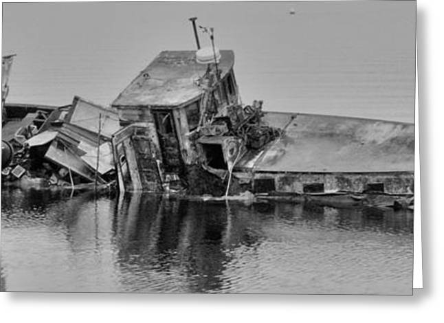 Greeting Card featuring the photograph Ship Aground by Timothy Latta