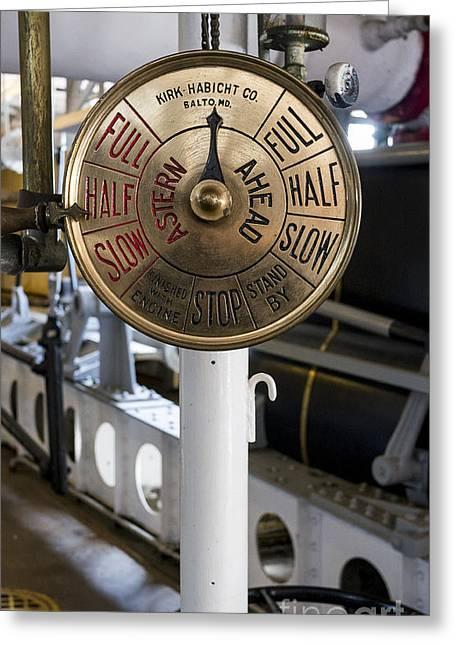 Ship Control Telegraph Greeting Card by Steven Ralser