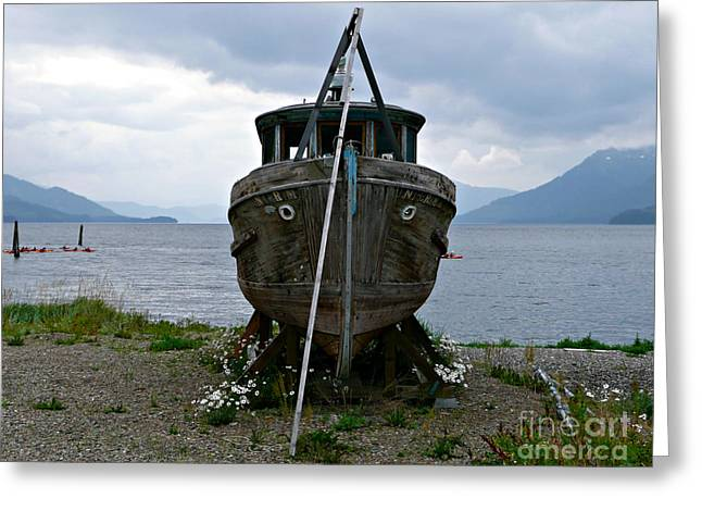 Ship For Sale Greeting Card
