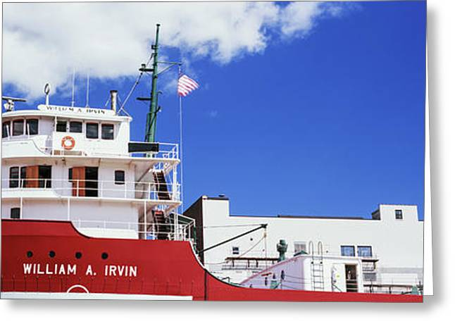 Ship Museum At A Harbor, William A Greeting Card by Panoramic Images