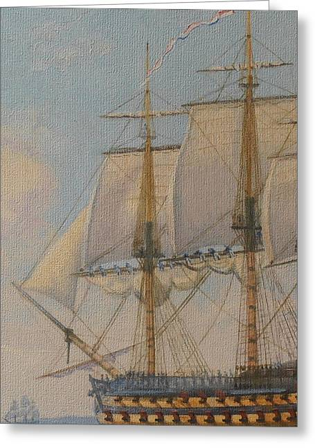 Ship-of-the-line Greeting Card by Elaine Jones