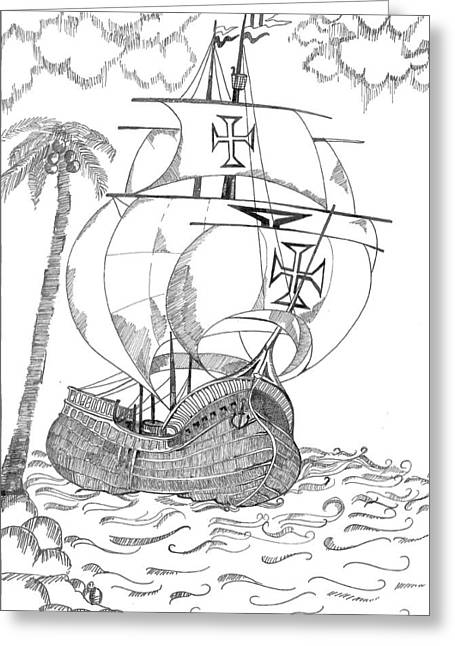 Ship Greeting Card by Shruti Bhagwat