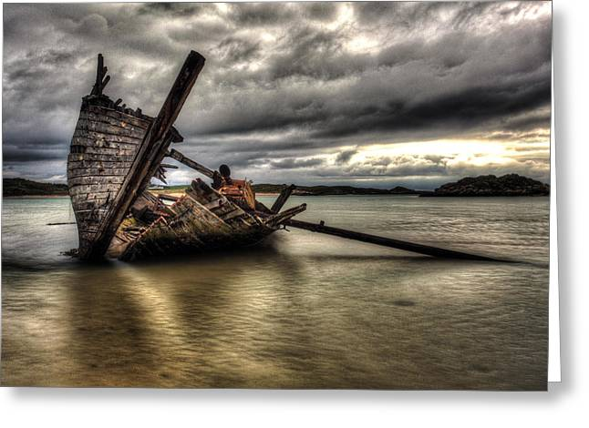 Ship Wreck Greeting Card by Craig Brown