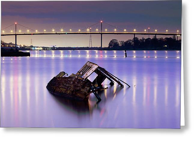 Ship Wreck Greeting Card by Grant Glendinning
