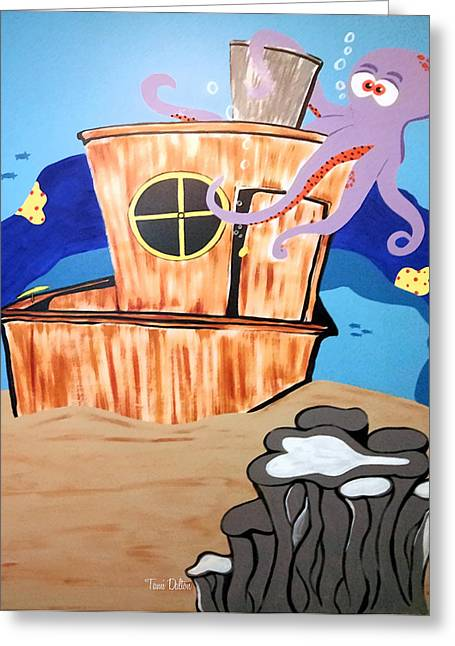 Ship Wrecked Greeting Card by Tami Dalton