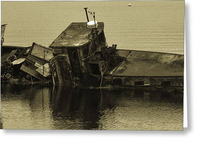 Greeting Card featuring the photograph Ship Wrecked by Timothy Latta