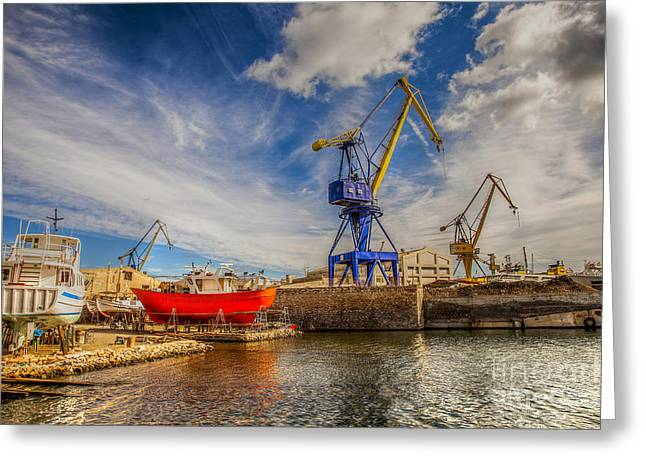 Ship Yard Greeting Card