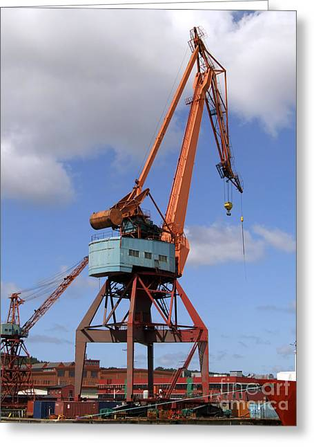 Shipping Industry Crane 06 Greeting Card