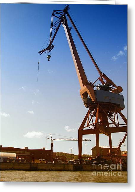 Shipping Industry Dock Greeting Card