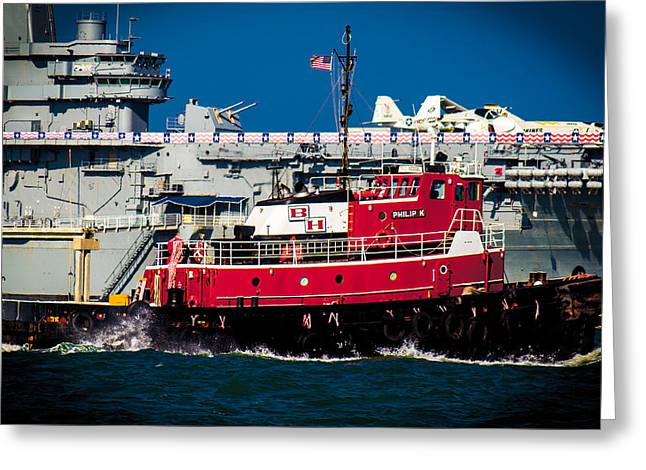 Shipping Lane Hero Greeting Card by Bartz Johnson