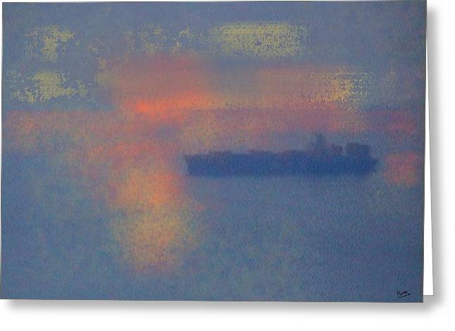Shipping Greeting Card by Marcello Cicchini