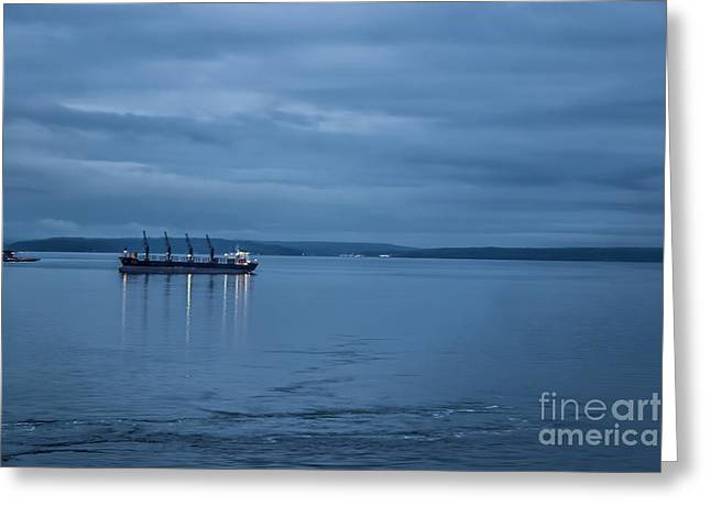 Shippng Lane Greeting Card by Eric Chegwin