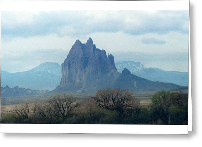 Mystical Mountain Shiprock New Mexico Greeting Card