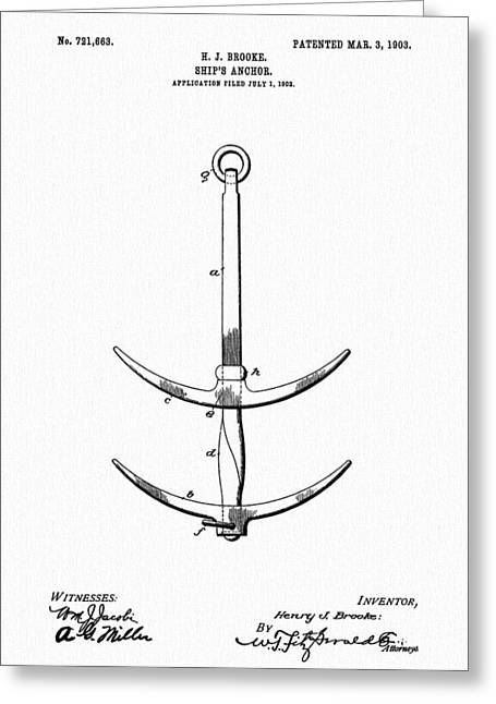 Ship's Anchor Greeting Card by Dan Sproul