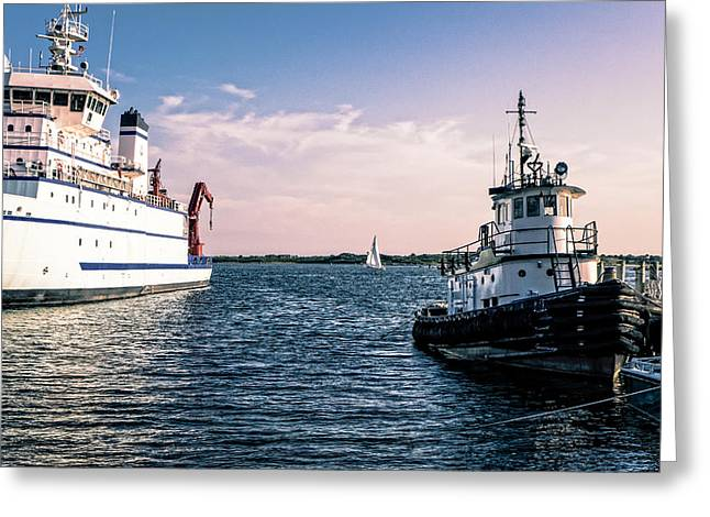 Ships Of Woods Hole Greeting Card