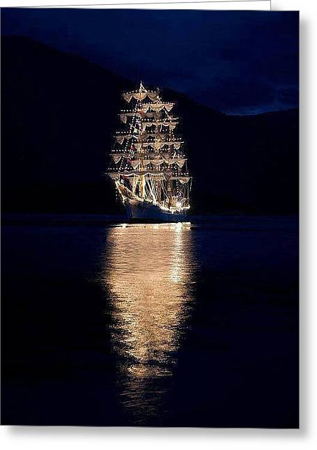 Ships That Pass In The Night Greeting Card