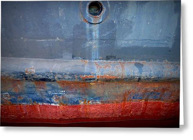 Shipside Abstract II Greeting Card by Patricia Strand
