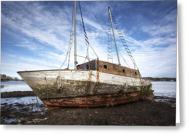 Shipwreck Greeting Card by Eric Gendron
