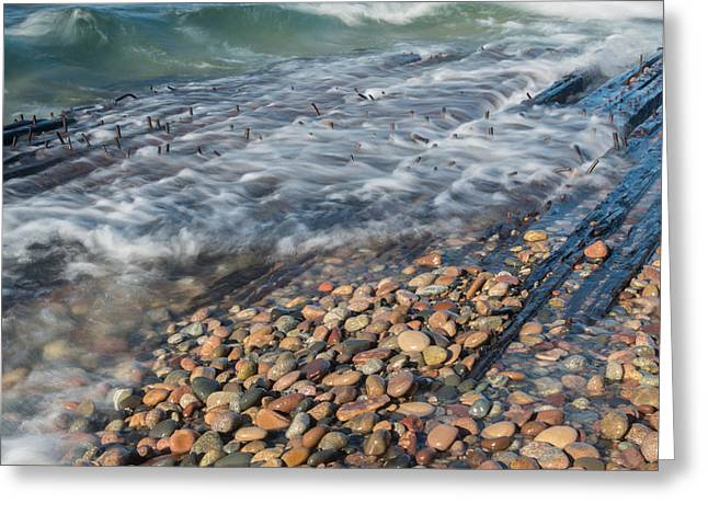 Shipwreck Waves Greeting Card