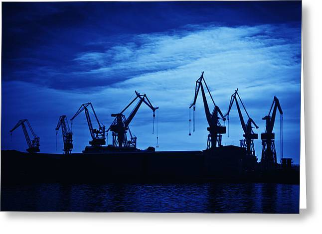 Shipyard Crane Greeting Card