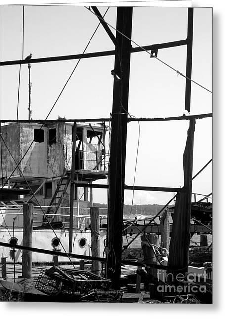 Greeting Card featuring the photograph Shipyard by Robert Riordan