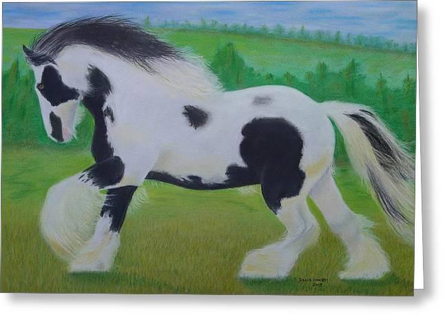 Shire Horse Greeting Card by David Hawkes