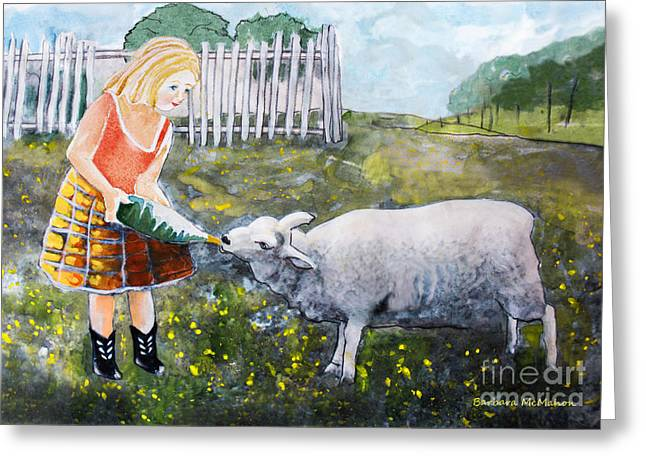 Shirley And Curly Greeting Card by Barbara McMahon