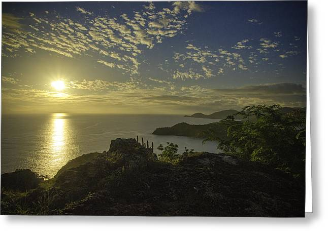 Shirley Heights Sunset Greeting Card