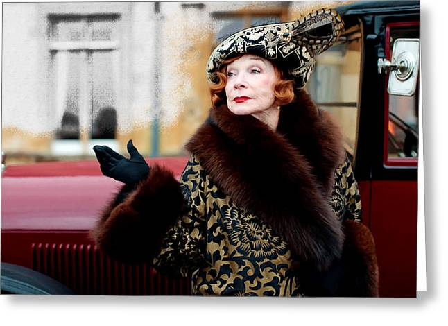 Shirley Maclaine @ Tv Serie Downton Abbey  Greeting Card