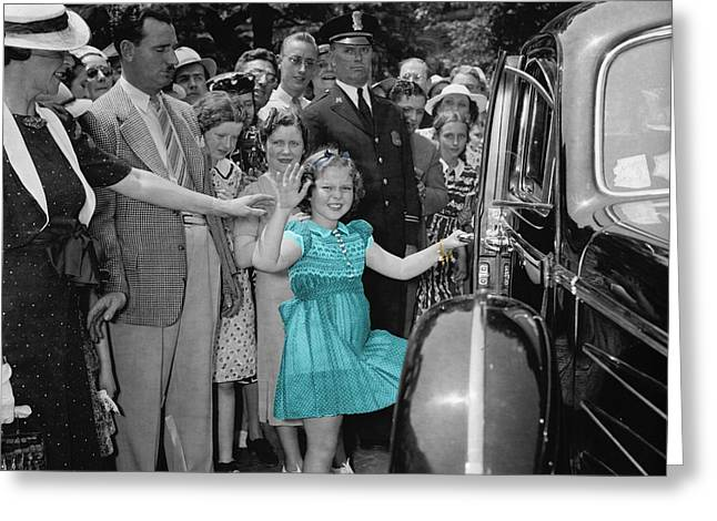 Shirley Temple Greeting Card by Andrew Fare