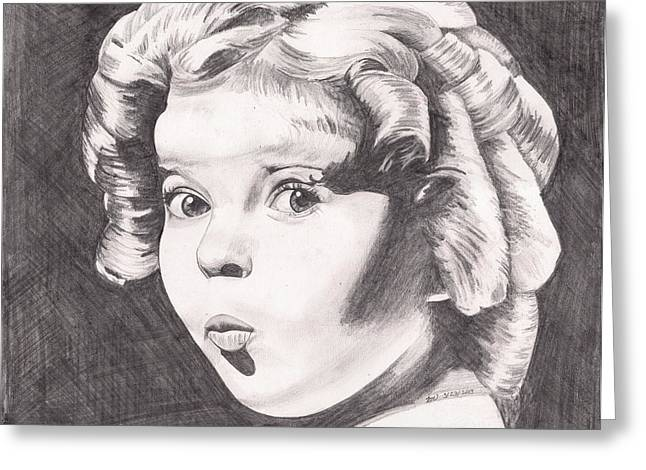 Shirley Temple Greeting Card by Beverly Marshall