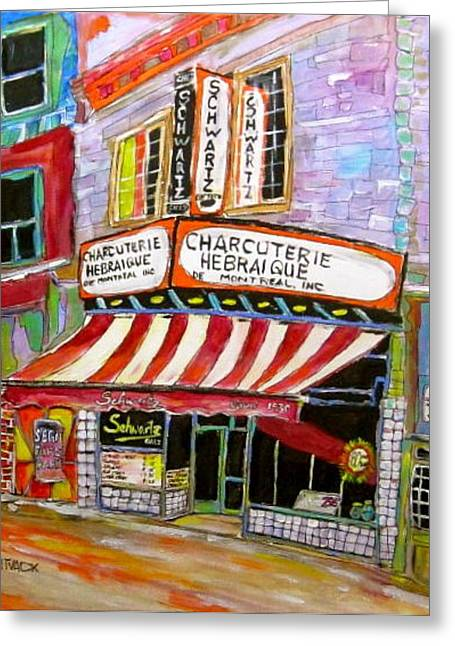 Shirley's Schwartz's  Greeting Card by Michael Litvack