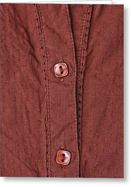 Shirt Buttons Greeting Card by Tom Gowanlock