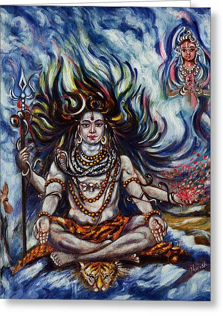 Shiva - Ganga - Harsh Malik Greeting Card