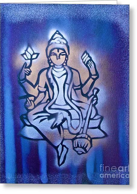 Shiva 2 Greeting Card by Tony B Conscious