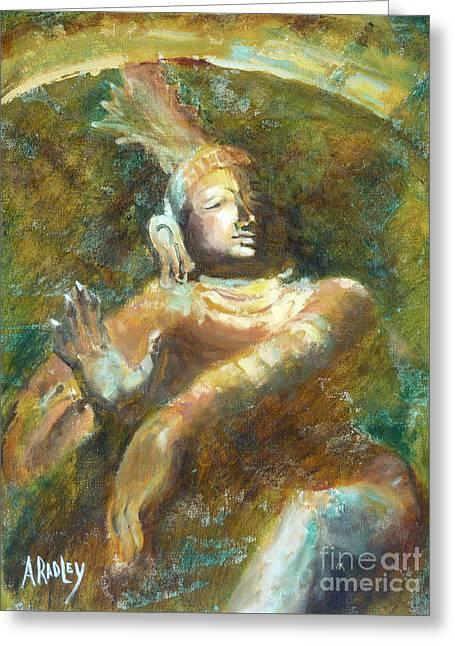 Shiva Creator Destroyer Greeting Card by Ann Radley