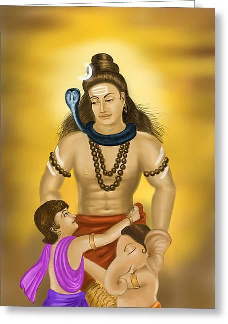 Shiva Family.  Greeting Card