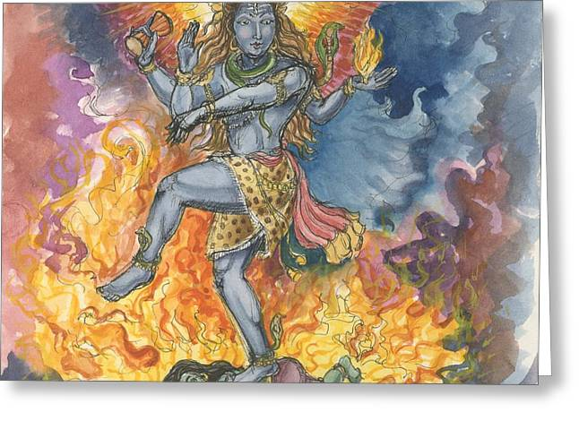 Shiva Nataraj Greeting Card by Jennifer Mazzucco