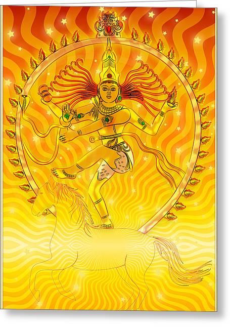 Shiva Nataraja Iv Greeting Card by Harald Dastis